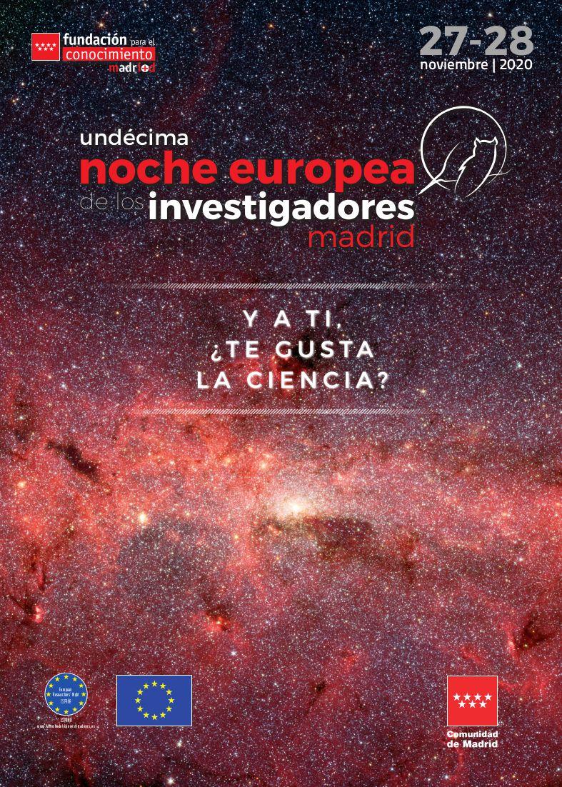 Cartel Noche de los investigadores e investigadoras