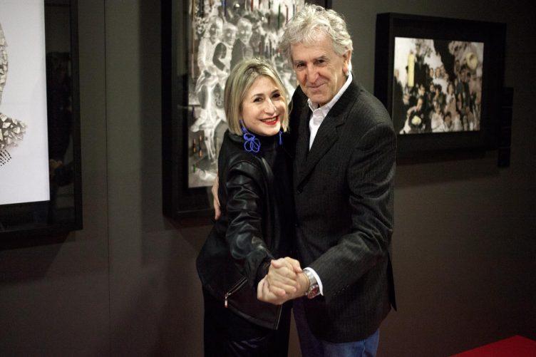 Carmen Calvo y Juan Luis Arsuaga, CNIO Arte 2020
