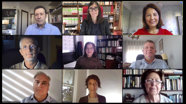 From left to right, and from top to bottom: Luis Paz-Ares, Maria A. Blasco, Marta Bertolaso, Fernando Valladares, Arantza Etxeberria, Antonio Diéguez, Miquel Porta, Elena Casetta, and Anna Estany. /CNIO