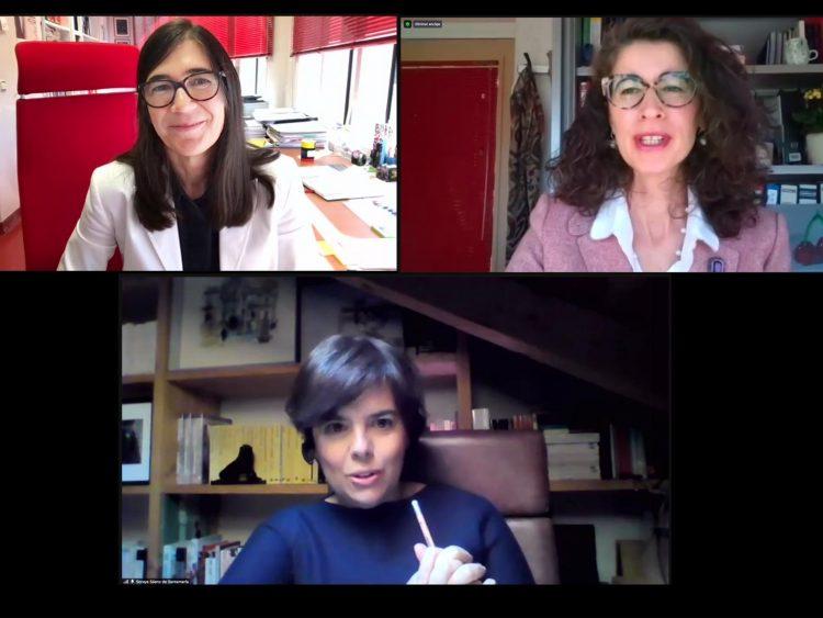 Maria Blasco, Isabel López de Silanes and Soraya Sáenz de Santamaría