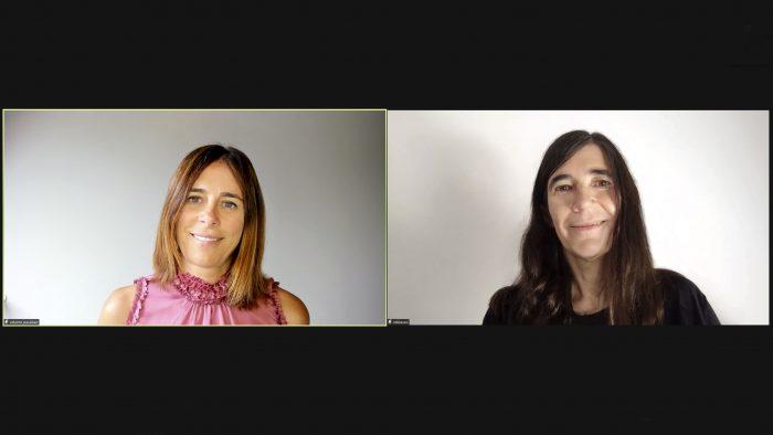 Edurne Pasaban y Maria A. Blasco durante el acto. /CNIO